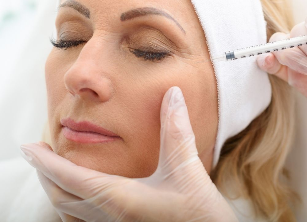 patient receiving botox for crow's feet in indianapolis, IN